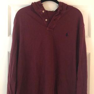 Polo pullover hooded top